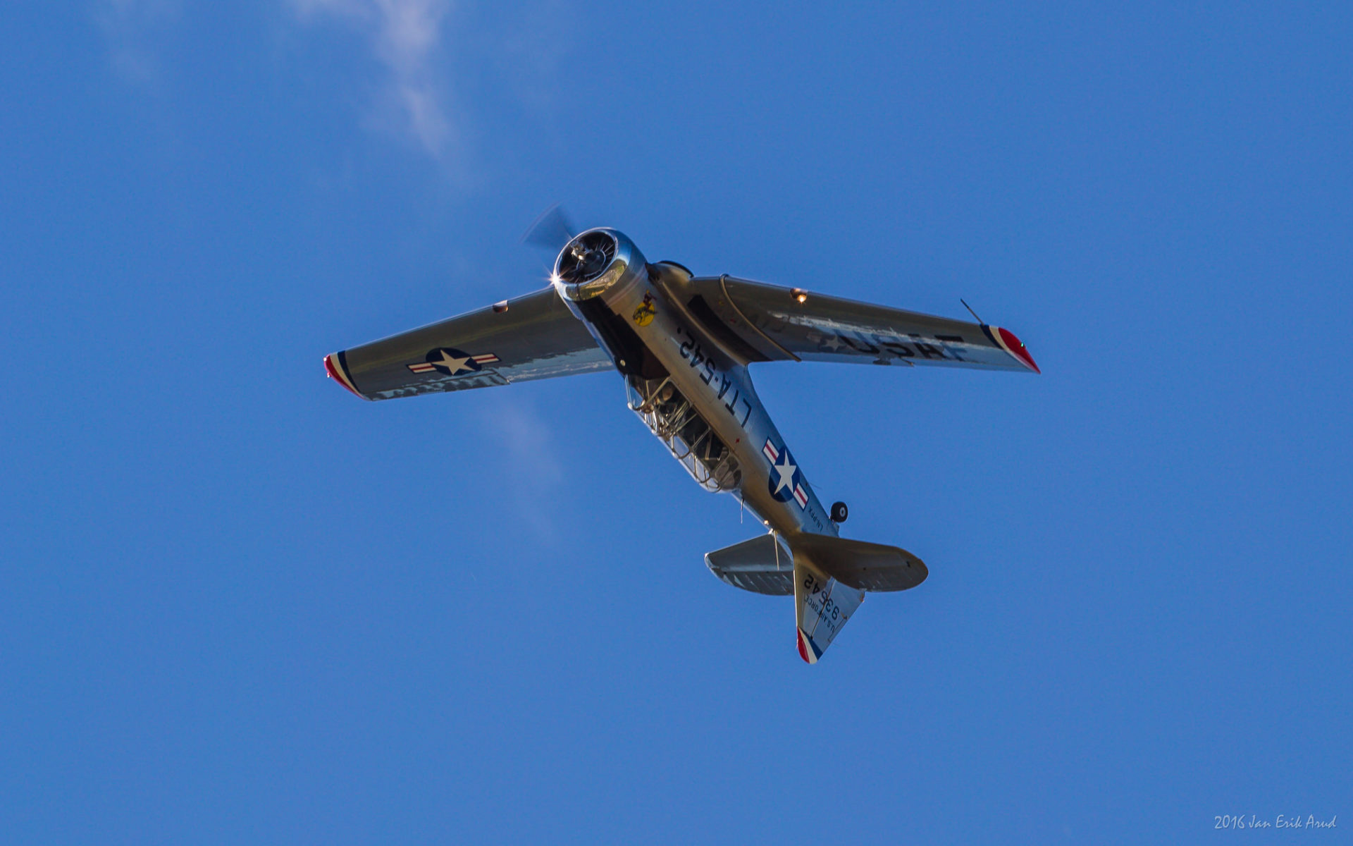 Harvard texan flight krigsfly rundflyvning